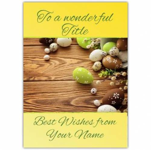 Best Wishes At Easter Card
