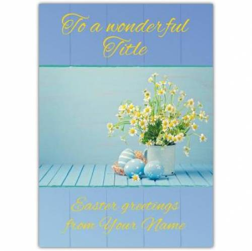 Flower And Easter Eggs Card