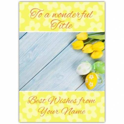 Yellow Tulips Easter Card