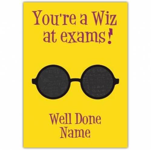 Wiz At Exams Card