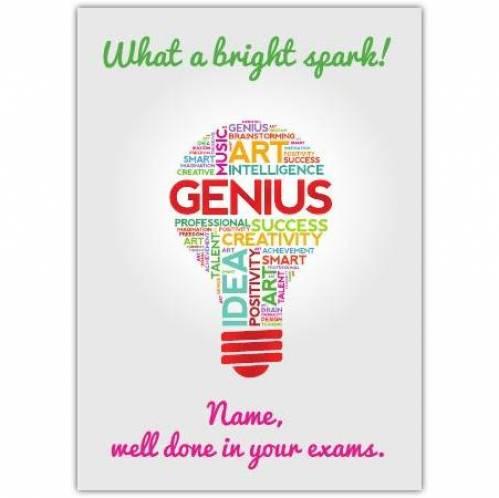What A Bright Spark Card