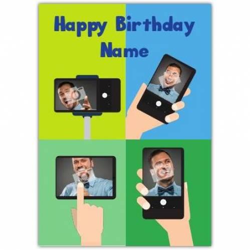 Phone Photo Happy Birthday Card