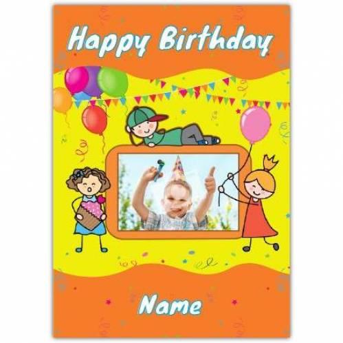 One Photo Boys Happy Birthday Card