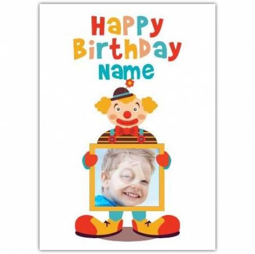 Clown Happy Birthday Card