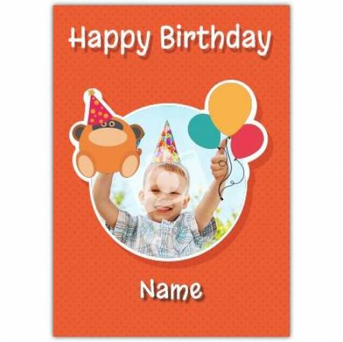 Gorilla & Balloons Happy Birthday Card