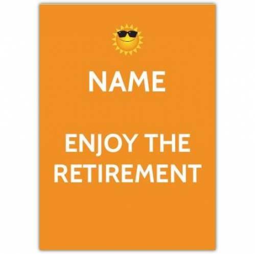 Sunshine Enjoy Retirement Card