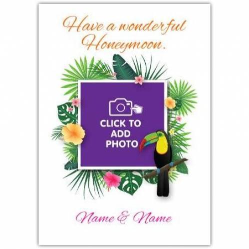 Parrot Honeymoon Card