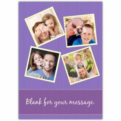 Four Photo Card