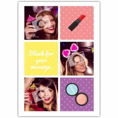 Lipstick And Make Up Happy Birthday Card Card