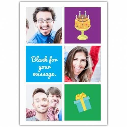 Cake And Present Happy Birthday Card