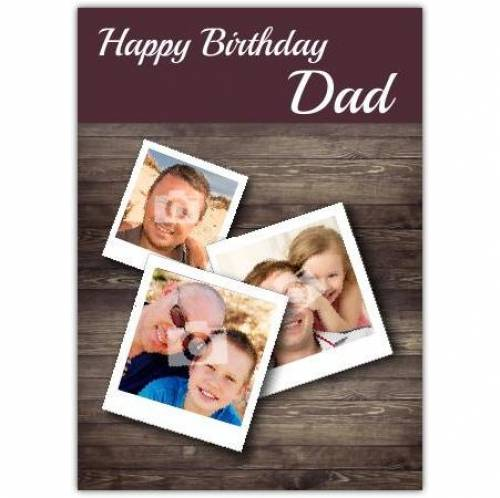 Wooden Table Dad Happy Birthday Card