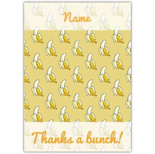 Bananas Thank You Card