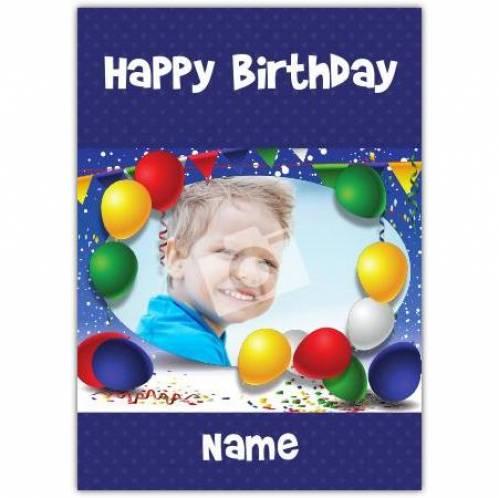 Balloons Happy Birthday Card