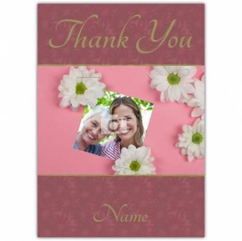 Daisy Thank You  Card