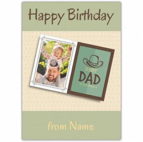 Cowboy Hat Dad Happy Birthday Card
