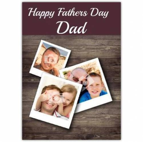 Three Photo Father's Day Card