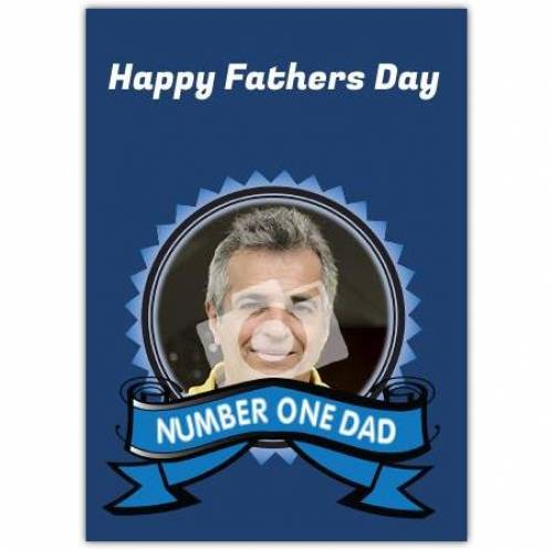 Number One Dad Happy Farther's Day Card
