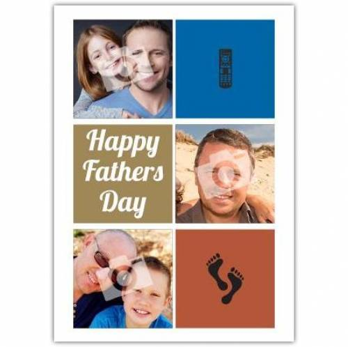 Remote Control Footprints Happy Farther's Day Card