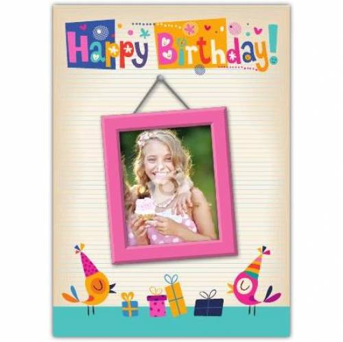 Picture Frame Happy Birthday Card