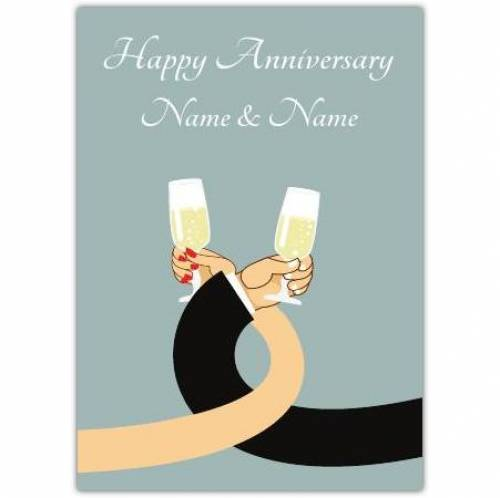 Linking Arms Happy Anniversary Card