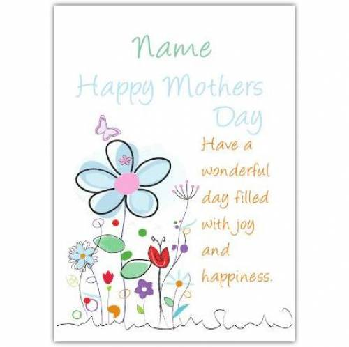 Wonderful Day Filled With Happiness Mother's Day Card