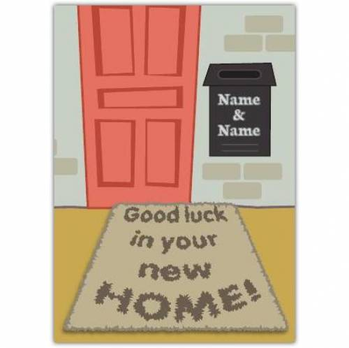 Door Mat Congratulations On New Home Card