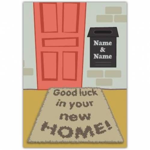 Door Mat Congratulations On New Home Card