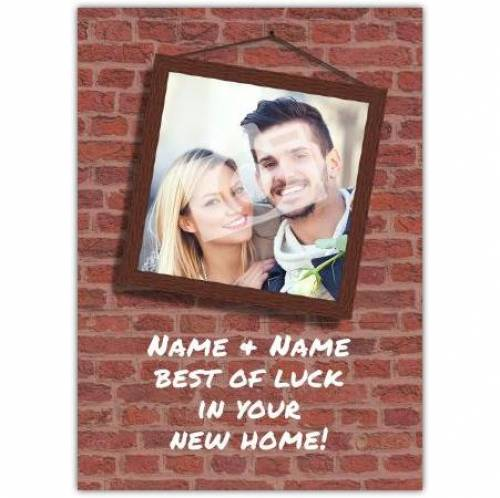 Bricks Congratulations On New Home Card