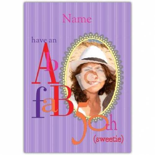 Fab 50th Happy Birthday Card