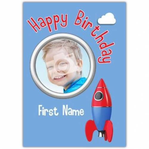 Rocket Happy Birthday Card