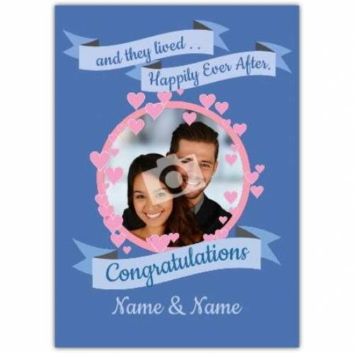 Lived Happily Ever After Wedding Card