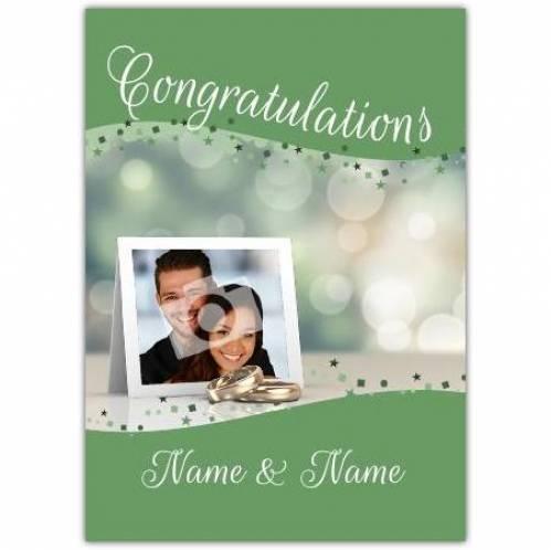 Wedding Rings Congratulations Wedding Card