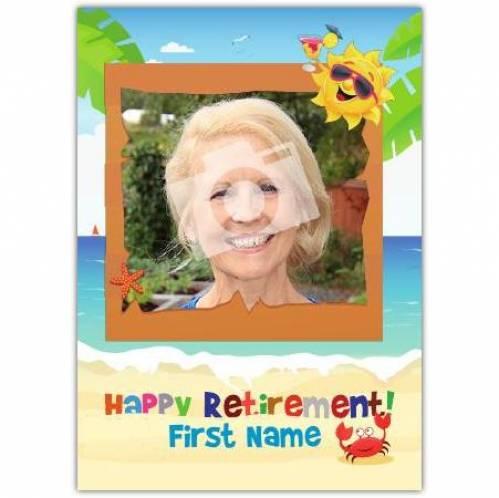 Happy Retirement Sand And Sea Card