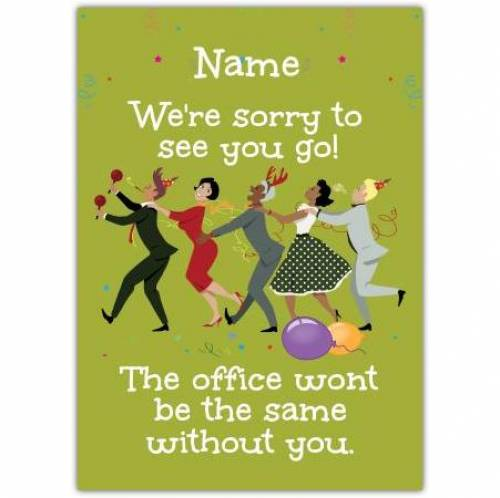 Sorry To See You Go, The Office Won't Be The Same Card