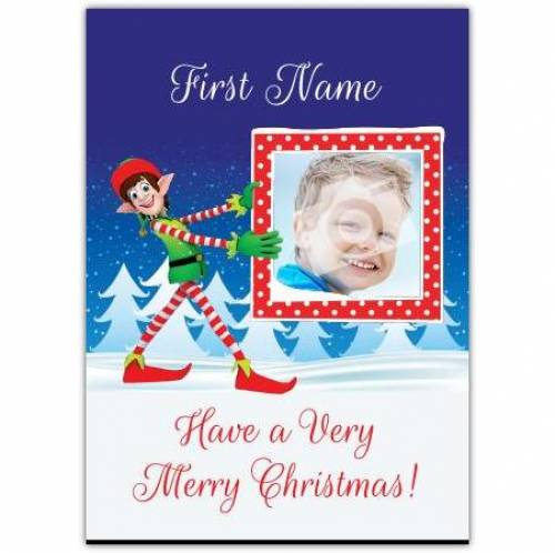 Merry Christmas Elf Card