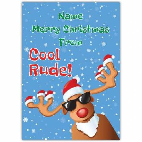 Merry Christmas Cool Rude Card