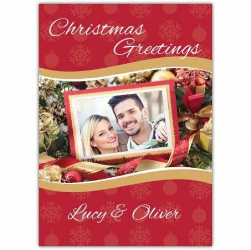 Christmas Greetings Picture Card