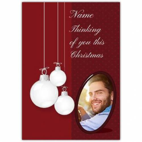 Thinking Of You This Christmas Card