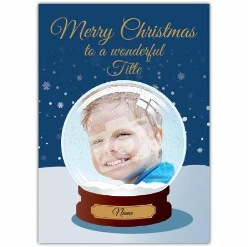 Merry Christmas Snow Globe Card