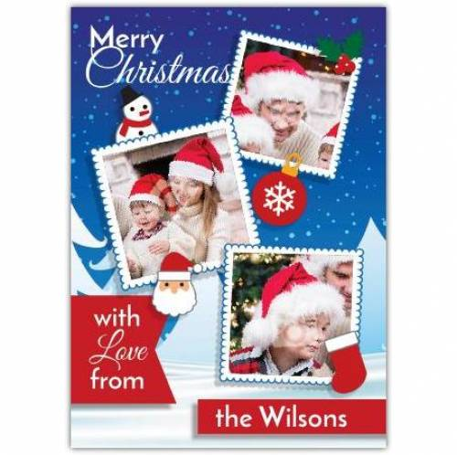 With Love From The Family Merry Christmas Card