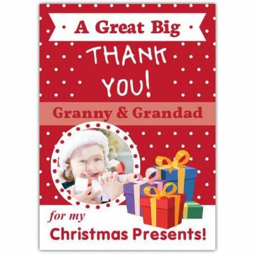 Christmas Presents Thank You Card