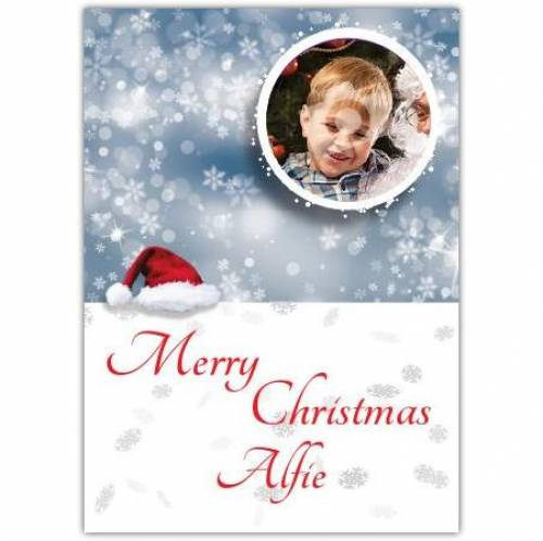 Merry Christmas Bauble Snow Card
