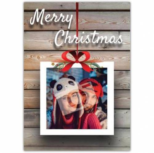 Merry Christmas Picture Bow Card