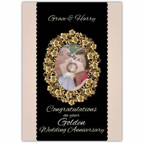 Golden Wedding Anniversary Picture Card