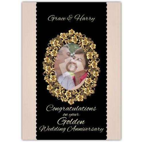 Golden Wedding Anniversary Picture Card