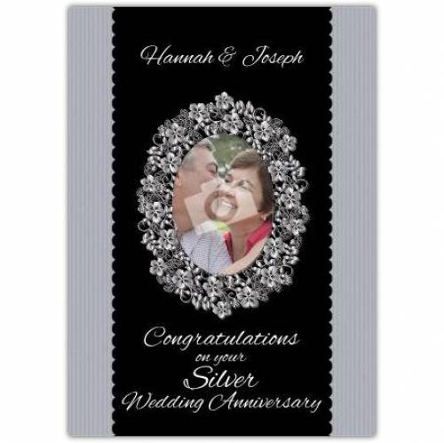 Silver Wedding Anniversary Picture Card