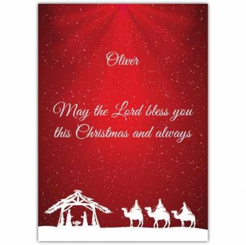 Three Wise Men, May The Lord Bless You Card