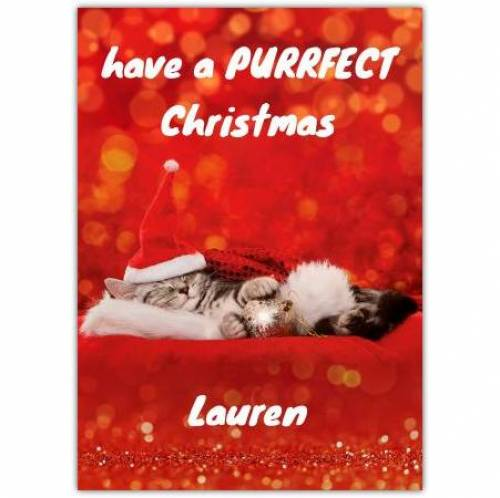 Purrfect Christmas Kiteen Card