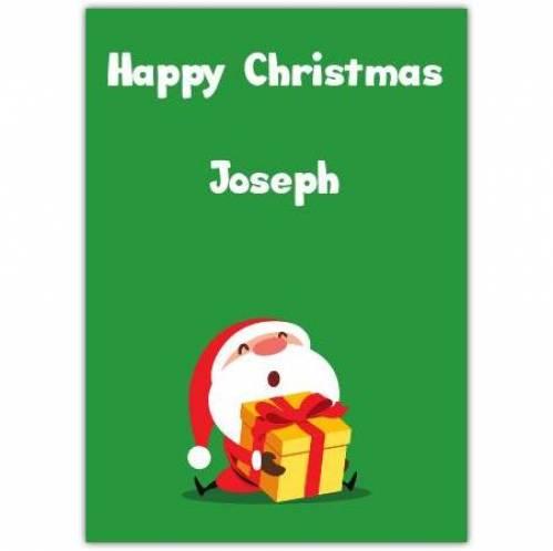 Happy Chrismtas Santa Gift Card