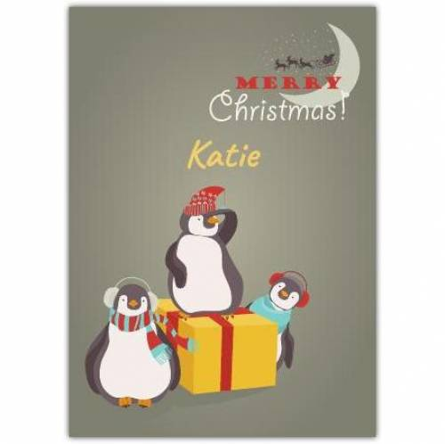 Merry Christmas Penguins Card